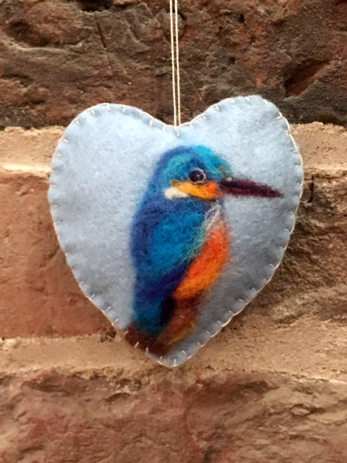 Felting Hanging Hearts
